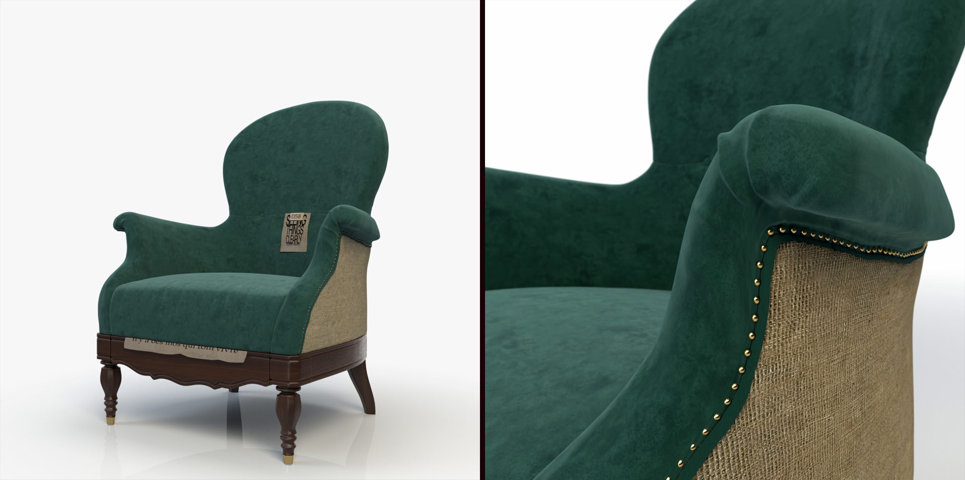 Custom 3D Model : Ona Armchair by Baxter