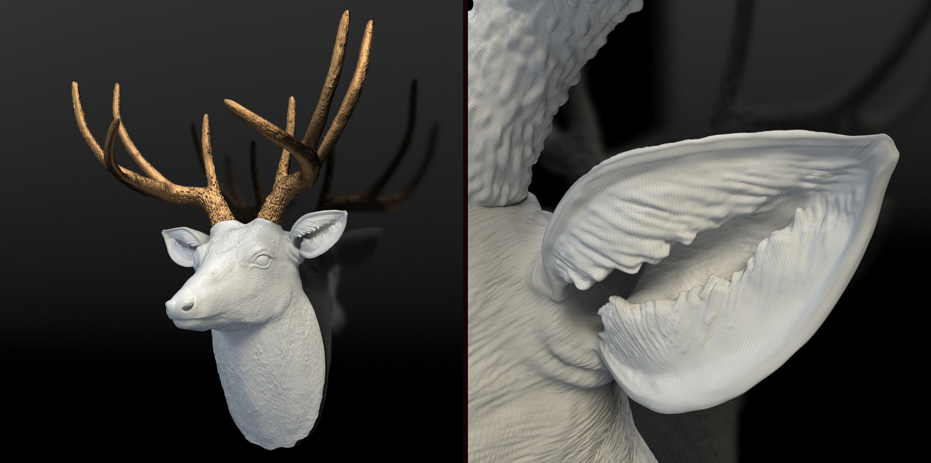 Custom 3D Model : Deer Bust