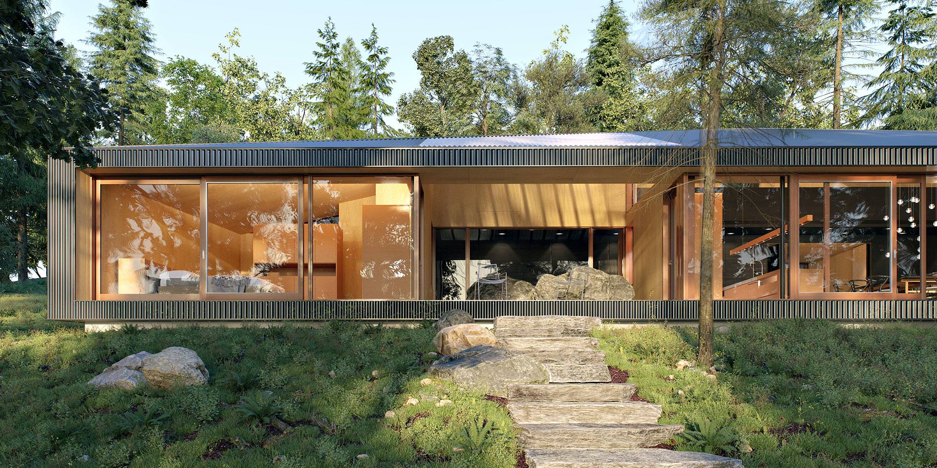 Making of Clear Lake House - 3D Architectural